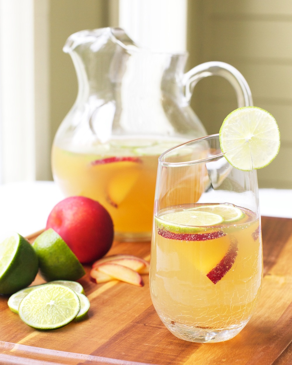 Sparkling Plum White Tea with Lime