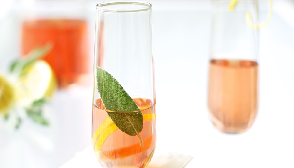 Rose Wine with Sage and Lemon