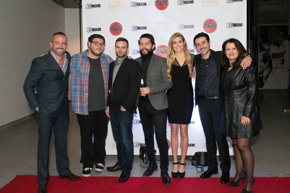 Left to right: Frank Kelly (executive producer), Tim D. (editor), Sherman Johnson (cinematographer), Fro Rojas (director), Liz Twining (actor), myself and Grace Dionne