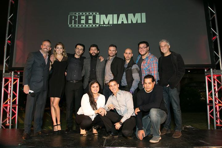 Cast and entire crew moments after the screening.