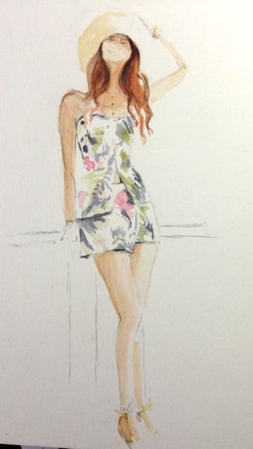 My watercolor interpretation of the fashion blogger