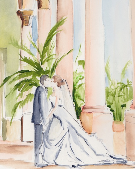 A Live Event Wedding Using Watercolors