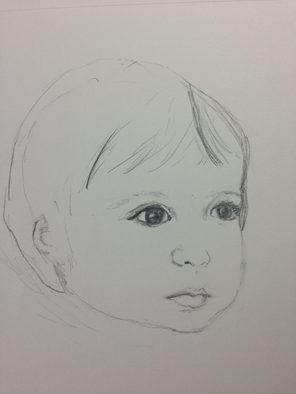 Graphite sketch of my grandaughter
