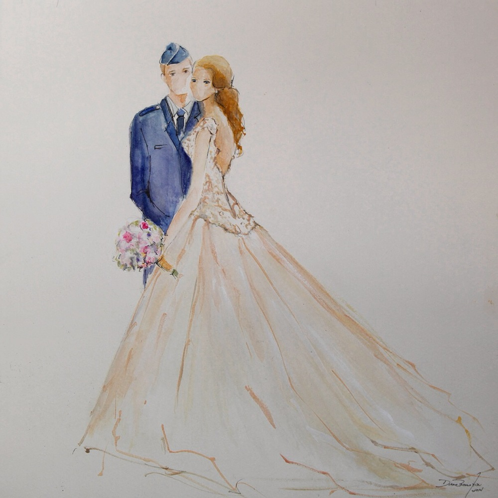 Completed Painting of the Gorgeous Couple
