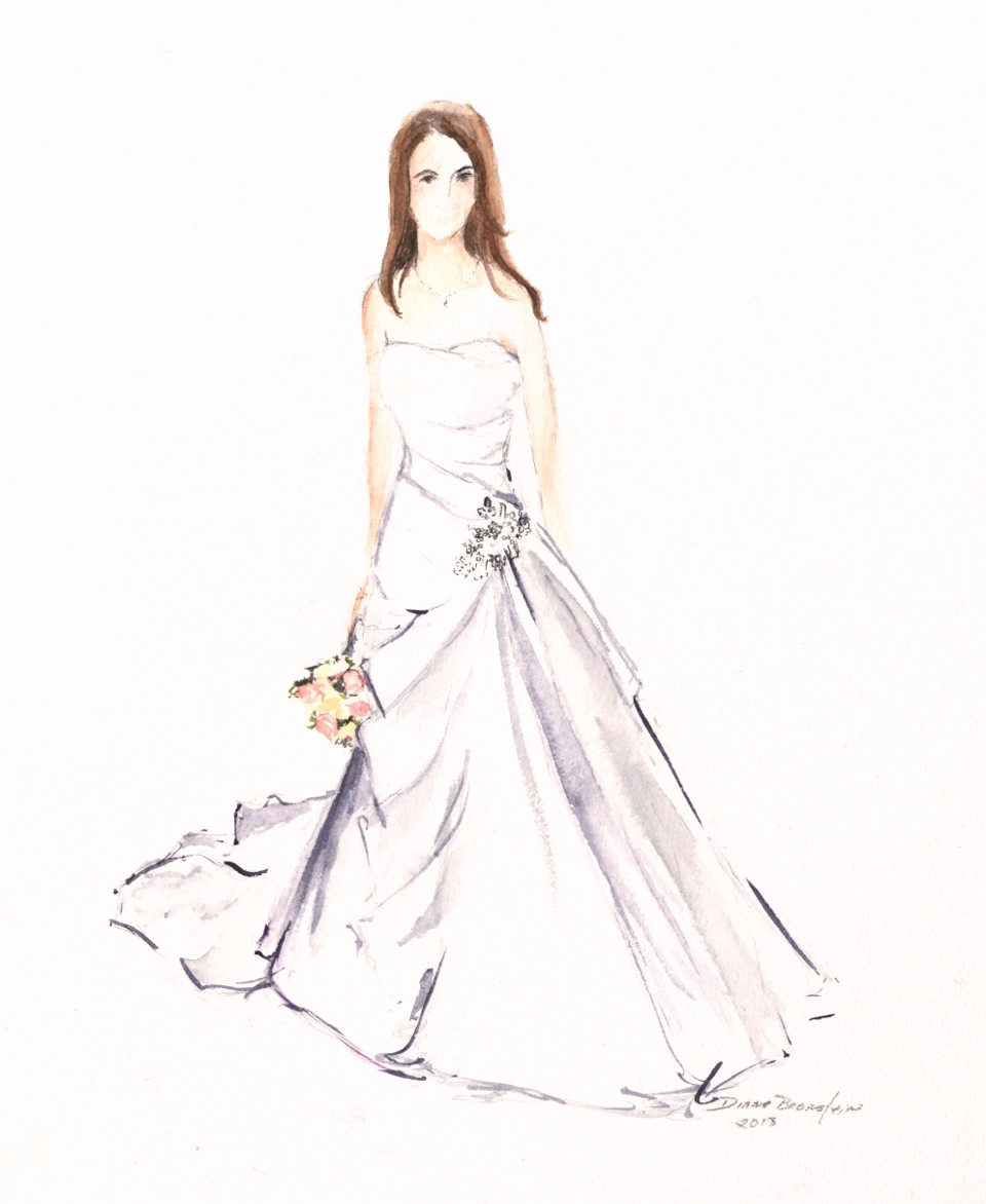 Example of a wedding gown portrait