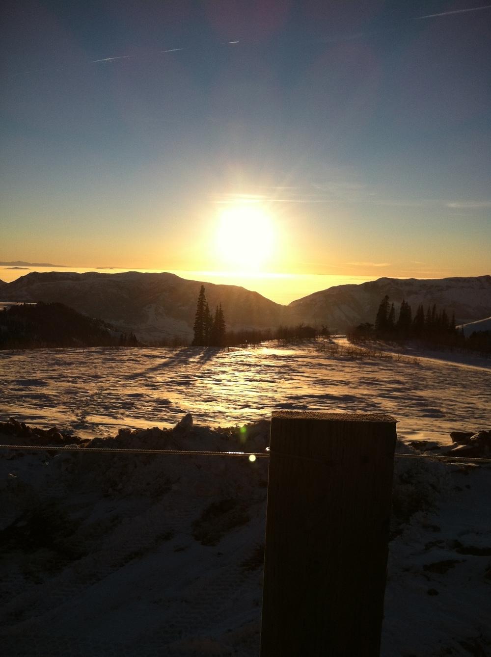 Sunset on Powder Mountain