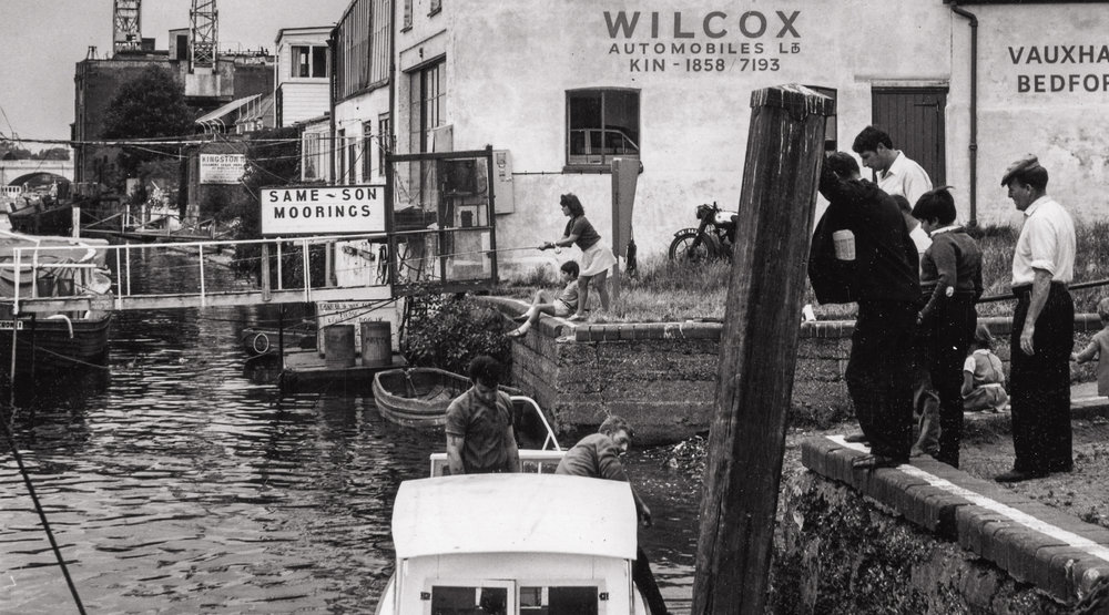 Kingston's riverfront near Fricker's Eagle Wharf c1950