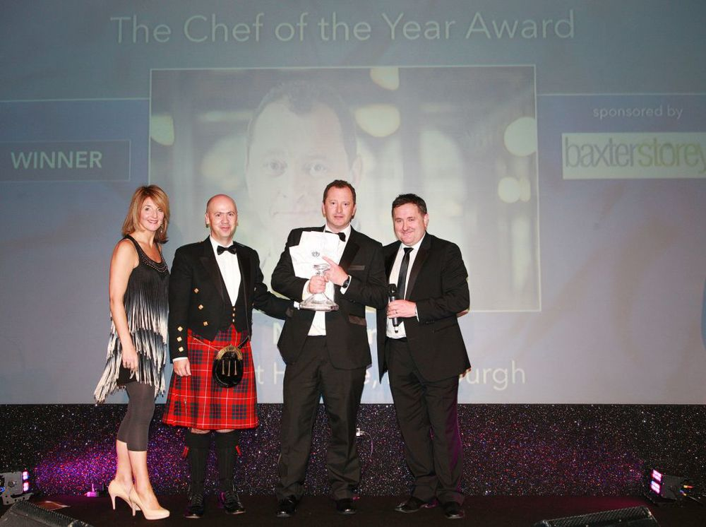 Neil is awarded Chef of the Year 2014