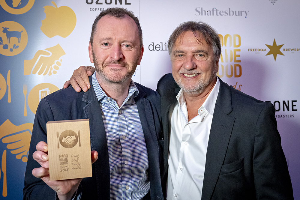 Our chef director Neil Forbes with SRA President, Raymond Blanc OBE