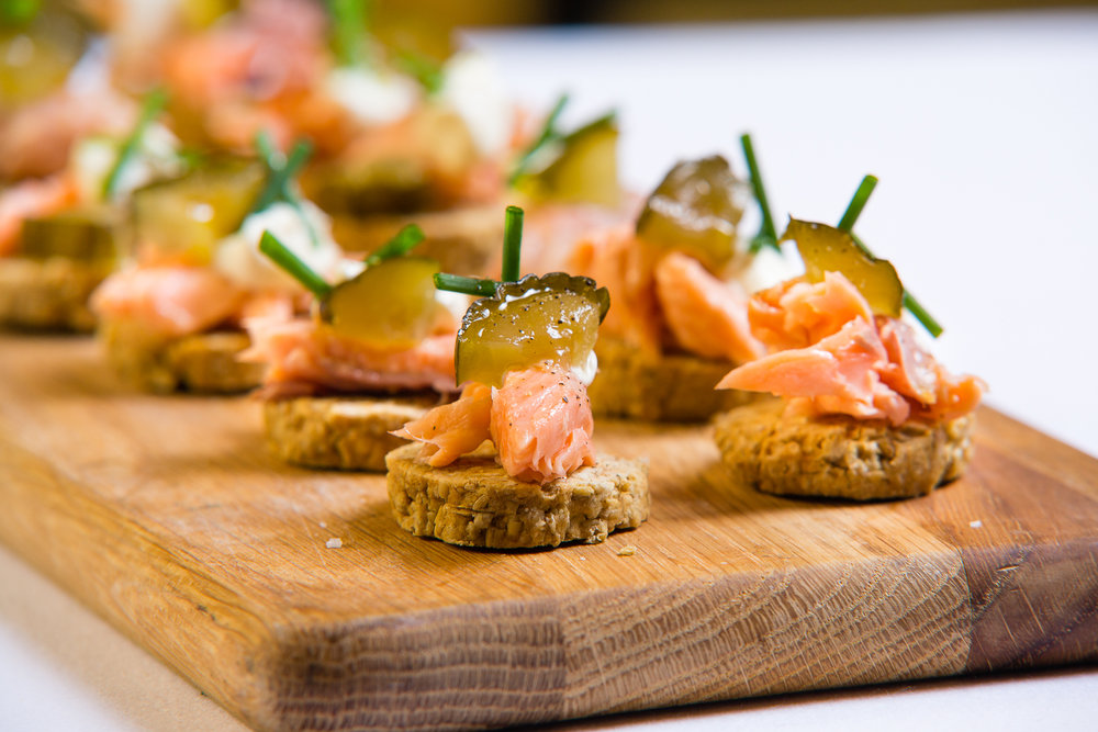 Neil Forbes Cafe St Honore Trout Canapes 2 WEB SIZE (Credit - Paul Johnston at Copper Mango)-CMPL9731.jpg