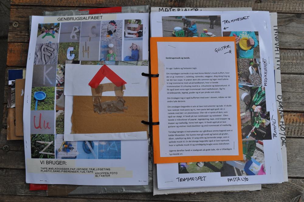 Genbrugsbog lavet over Projektet i Børnehuset Østerskov marts til juni 2013