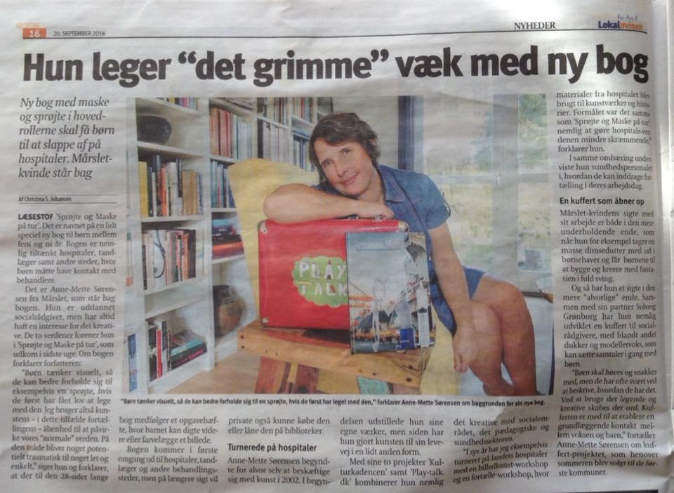 Artikel om børnebogen i Aarhus Lokalavis - Syd.