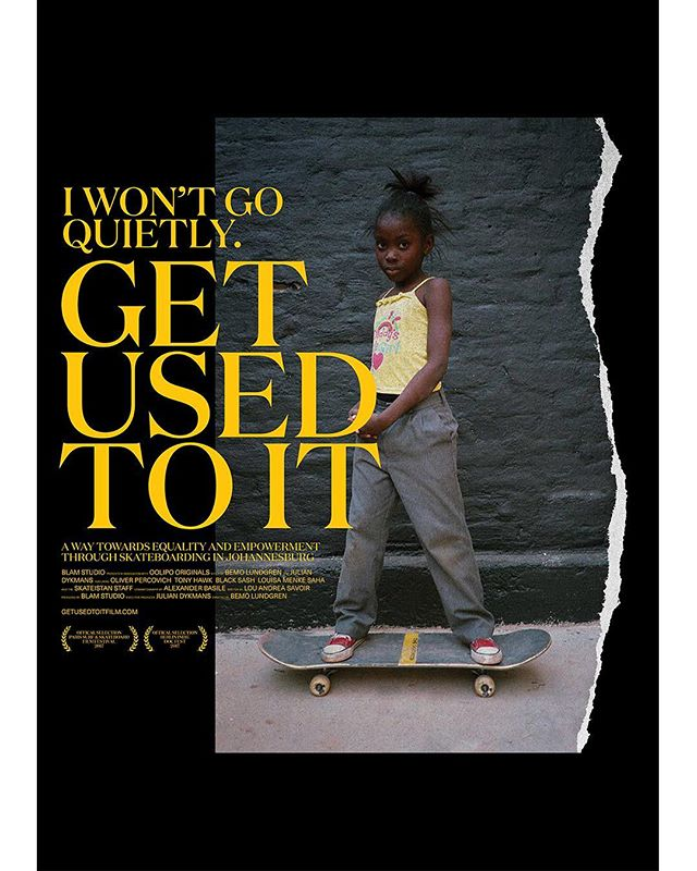 WORK: Poster design for documentary 'Get used to it' by @blamstudio premiering this Saturday at Paris Surf & Skateboard Film Festival @pssff2017