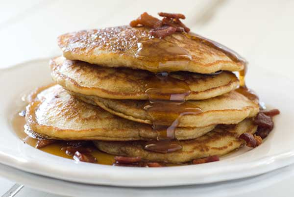 These are the gluten-free-maple-bacon-pancakes I *would have* made in my dream.