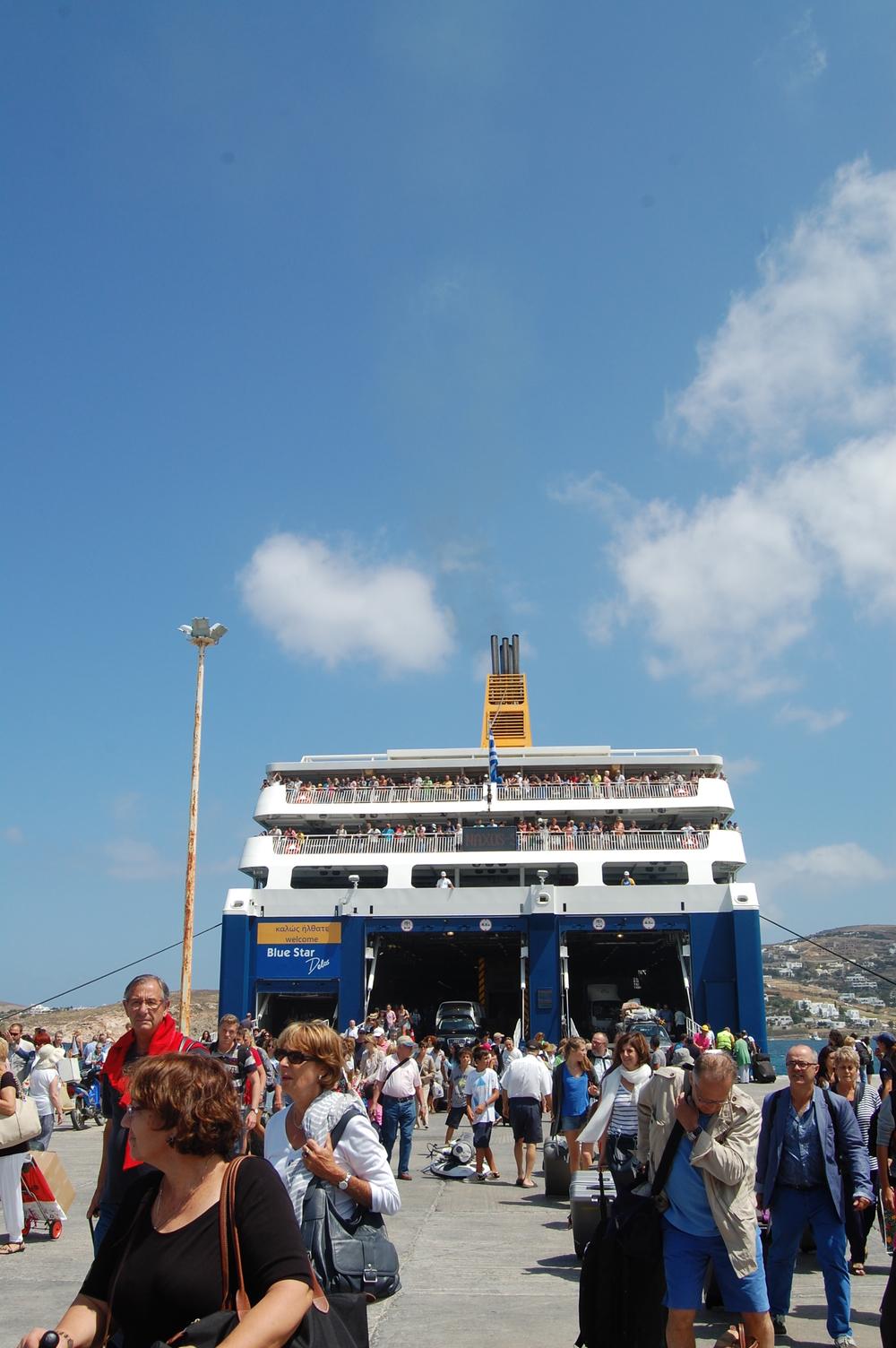 Arriving Paros