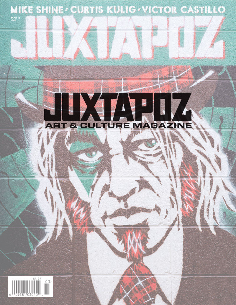 Juxtapoz Cover March, 2013