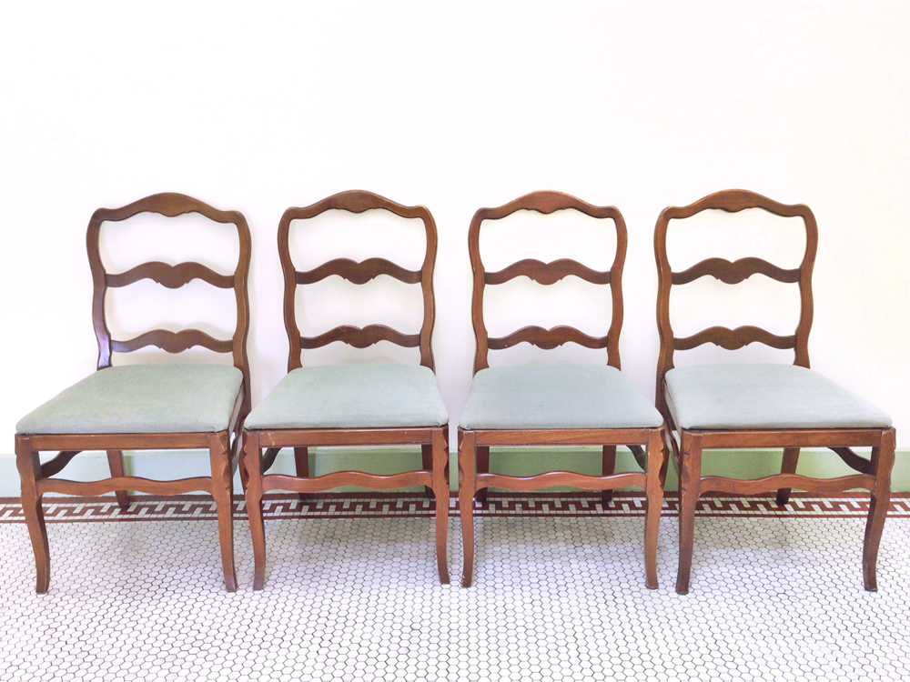 Wave Back Chair Set Real Good Goods Co