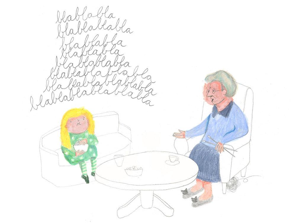 granddaughter visiting grandmother by ellen vesters