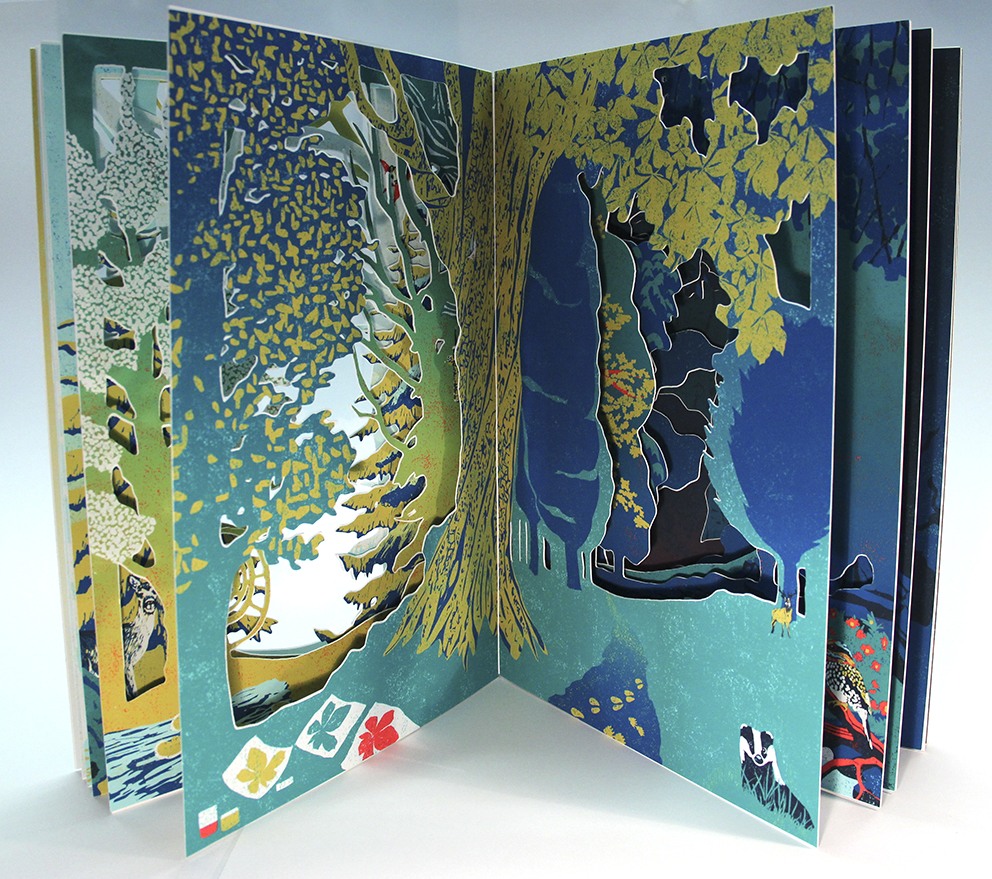 Into The Forest- A cut out book showing activities that can be enjoyed in the forest throughout the year.