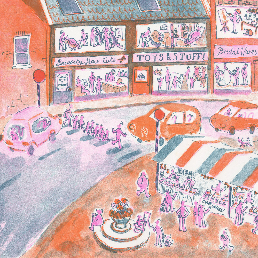 Detail from 'A Day in Wimmel City' - Wimmel Picturebook