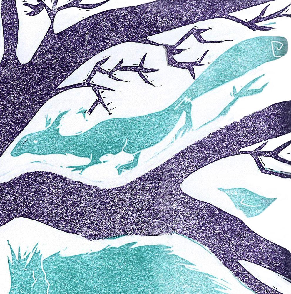 Winter Squirrel - Sarah Turpin