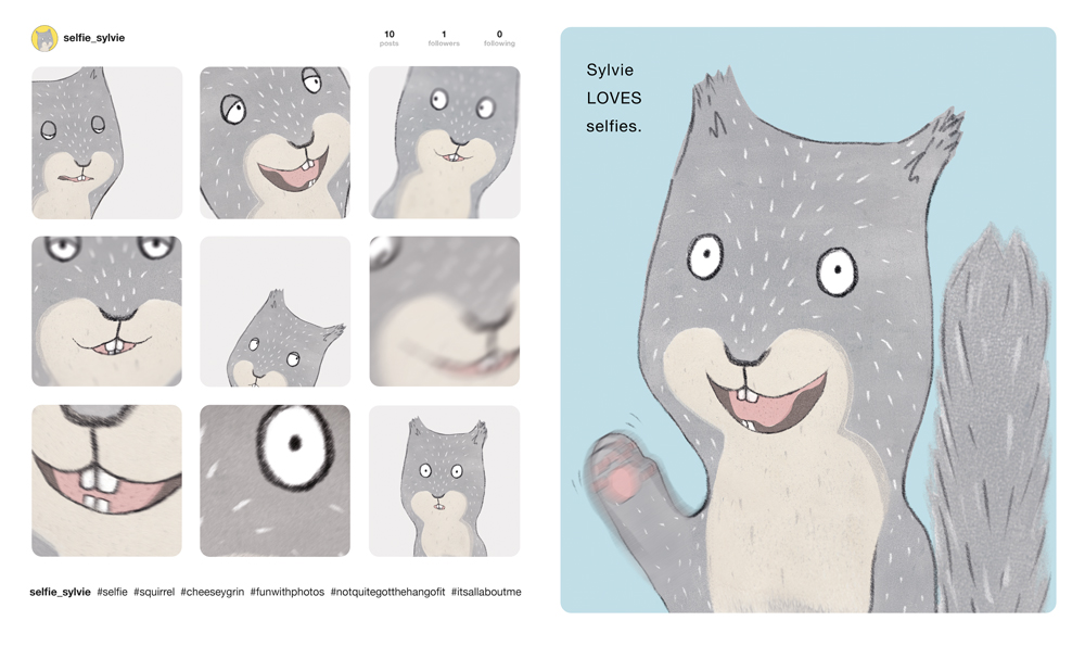 Selfie - picture book featuring Sylvie Squirrel