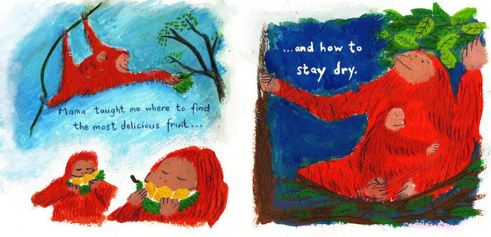 Spread from picture book 'What my mama taught me'.