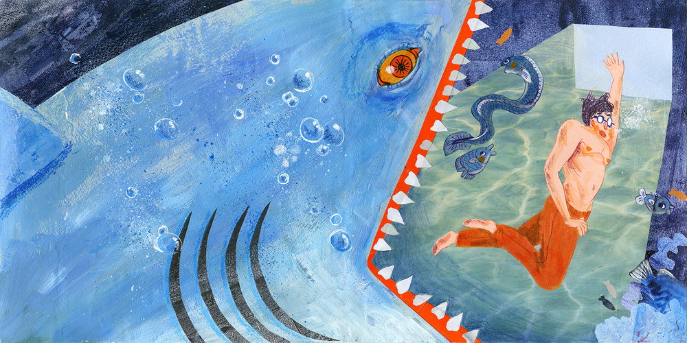 The Painting of Ocean (Wordless picture book)   MATERIAL:  Collage