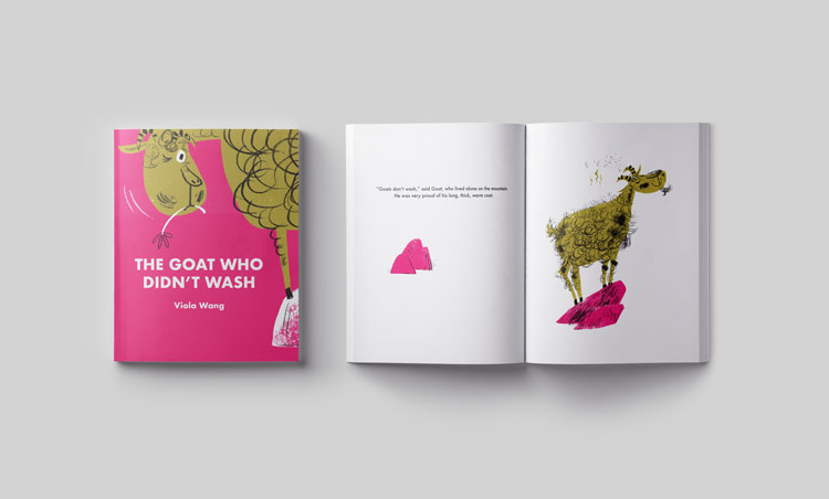The Goat Who Didn't Wash  is a fictional story of a dirty goat who never washes. All his friends come to help him to be clean, but one by one end up getting tangled in his messy fur.   • Fiction • 36 pages • 200mm x 250mm