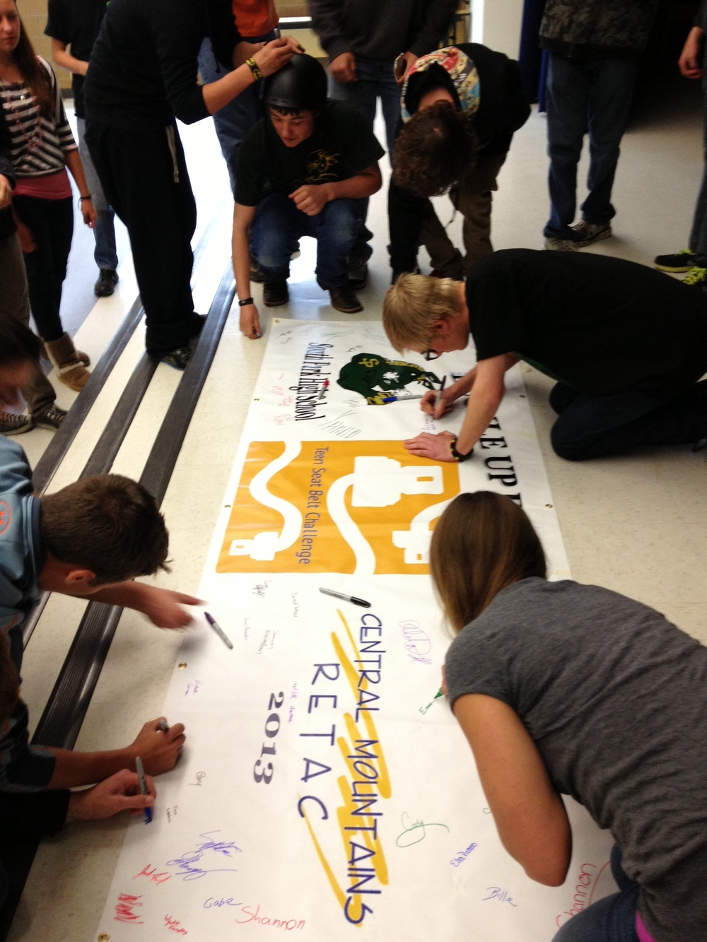 banner signing at South Park High School