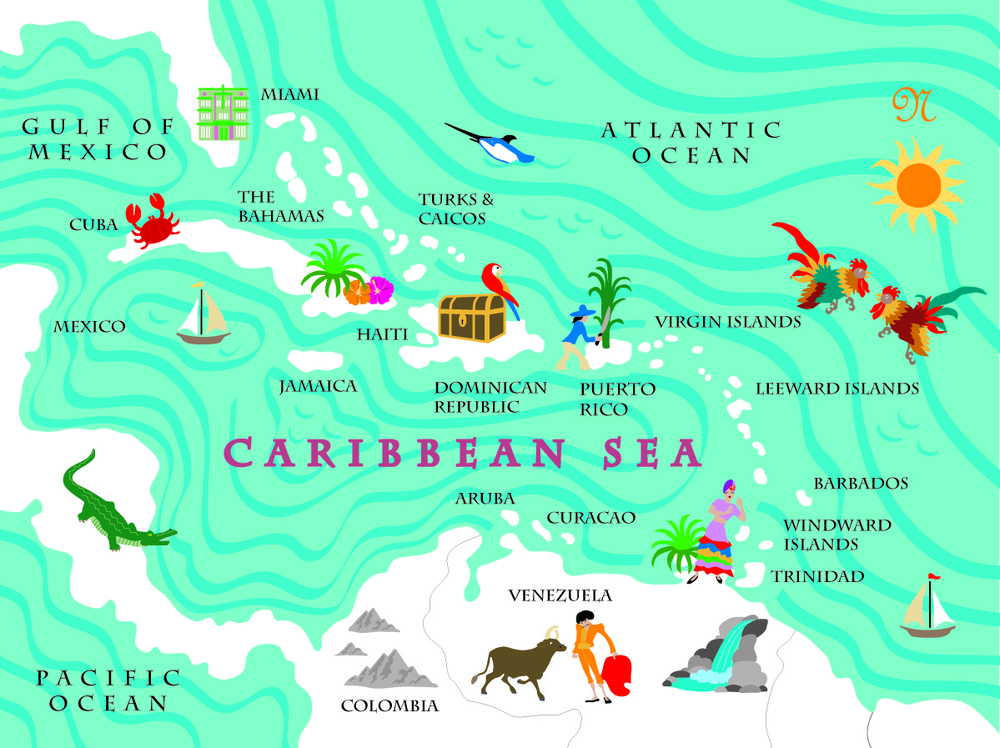 Fun Map Caribbean
