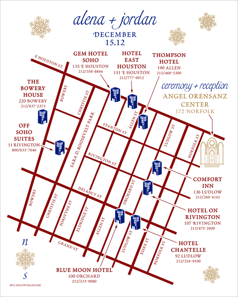 Fun Wedding Map Manhattan