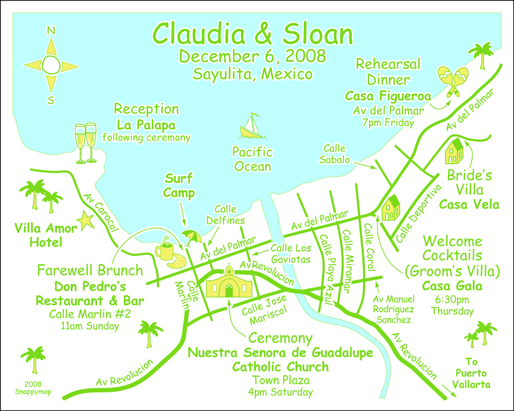 Fun Wedding Map Mexico