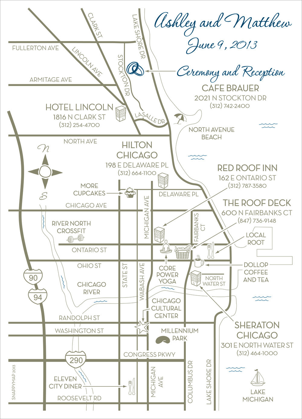 Fun Wedding Map Chicago