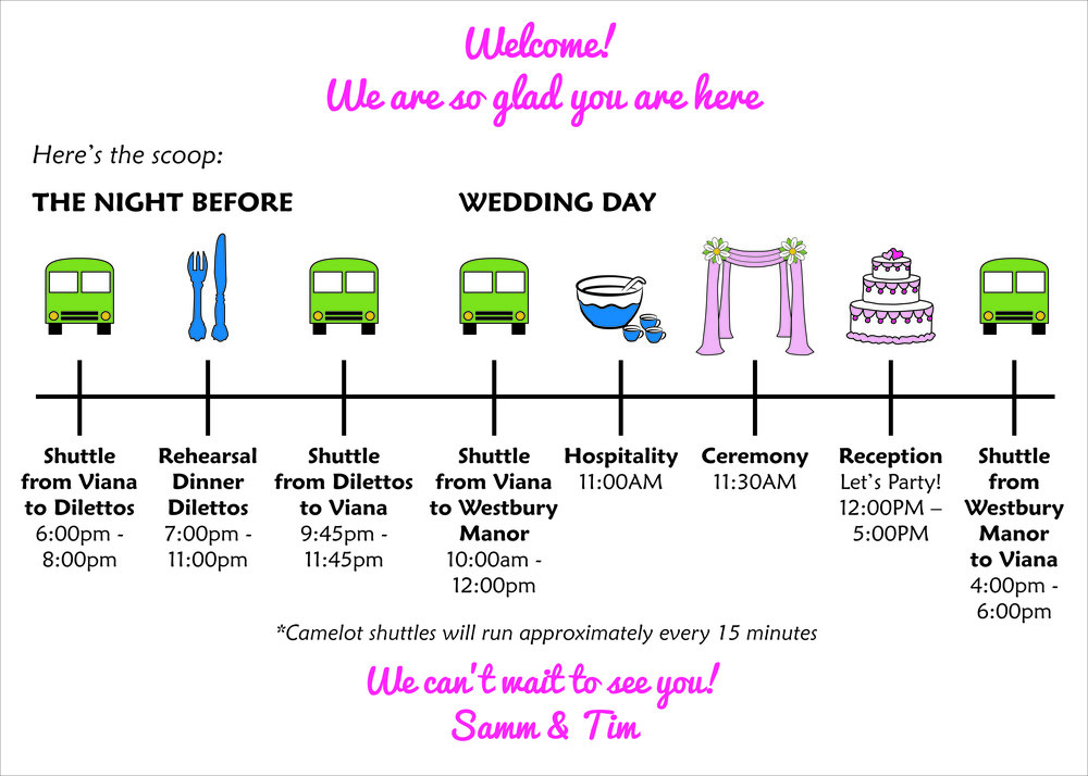 Fun Wedding Itinerary
