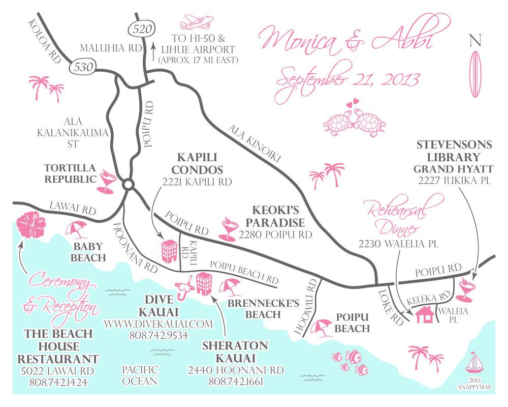Fun Wedding Map Hawaii