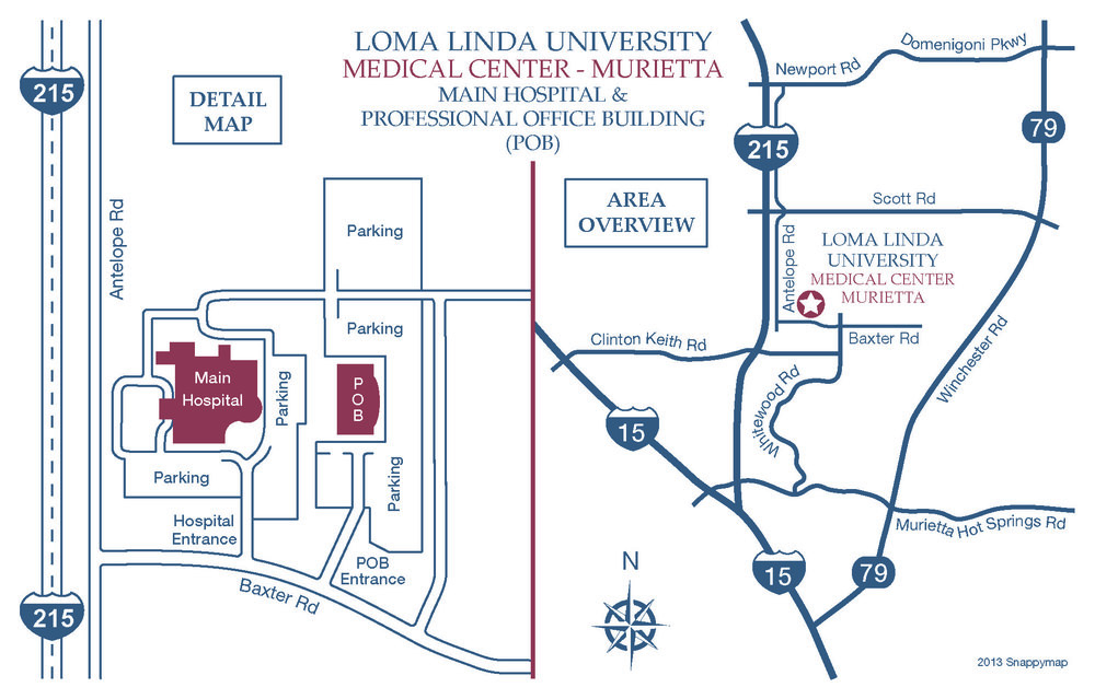 Hospital campus map