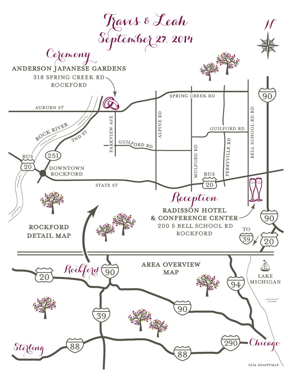 Formal Wedding Map Rockford