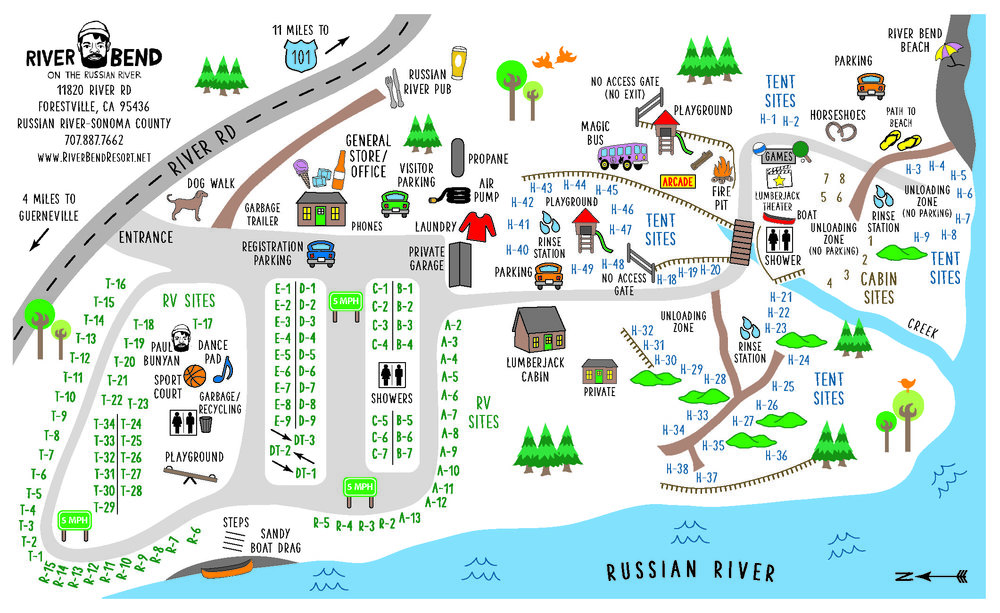 River Bend Resort Map