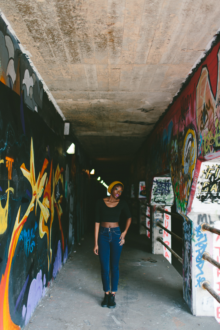 Krog Street Tunnel Graffiti Fashion Portrait