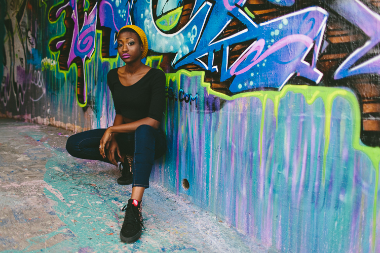 Graffiti Street Style Fashion Portrait
