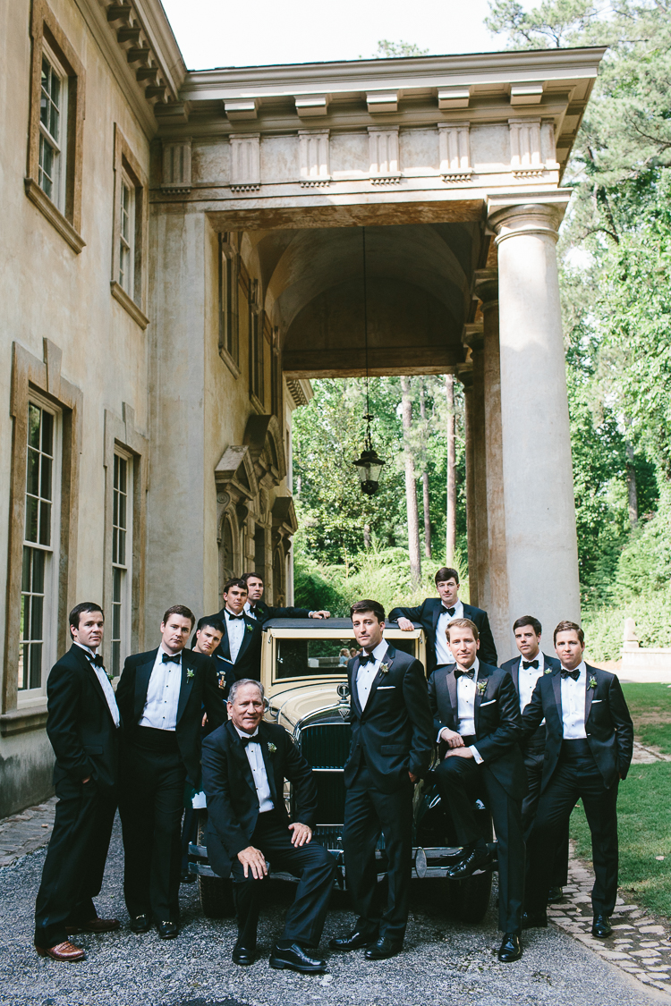 Groom and Groomsmen at Swan House