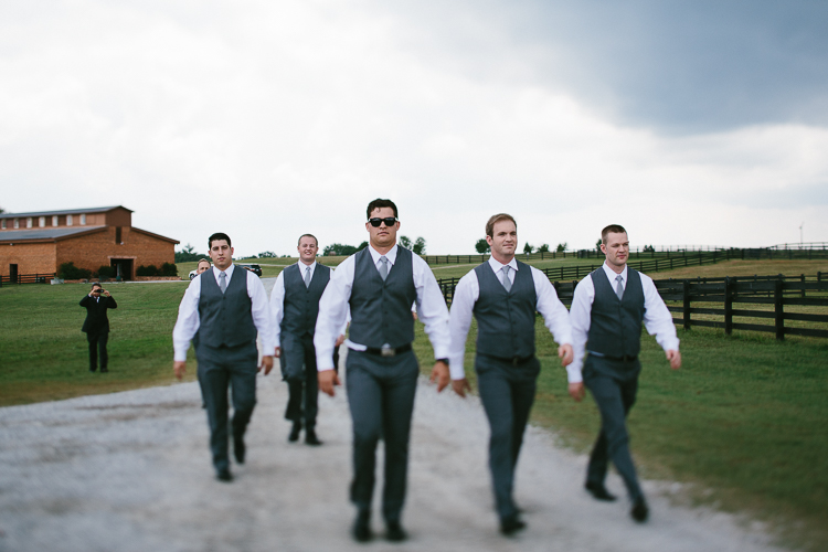 The Groomsmen at the Farm