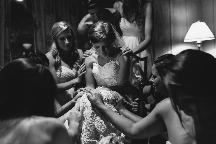 Praying Over the Bride