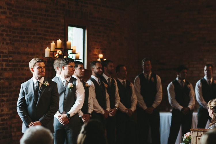 The Groom and His Groomsmen Awaiting the Bride