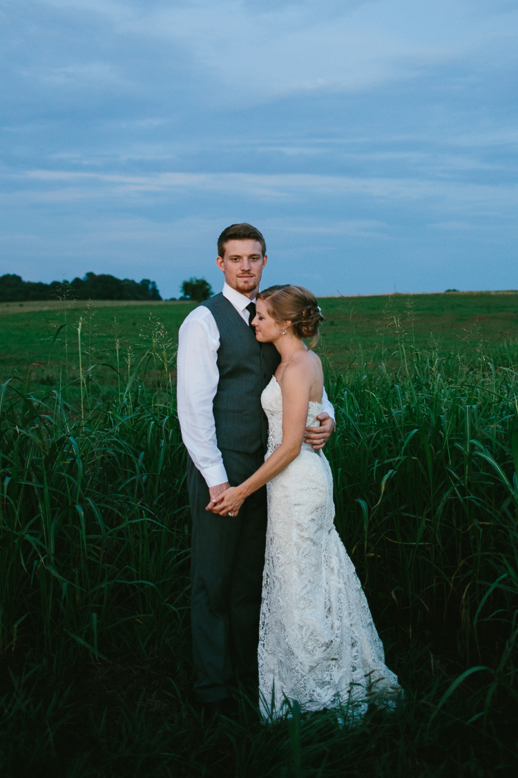 The Bride and Groom in the Field