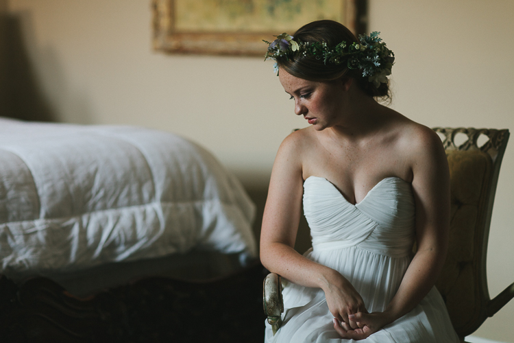 Bridal portrait with floral crown