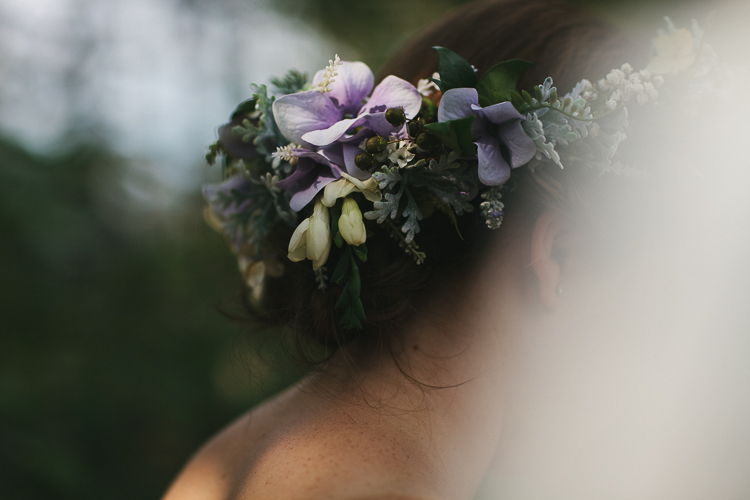 Bride's beautiful floral crown