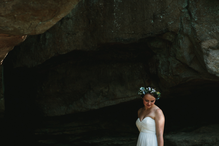 Bride portraits with flower crown