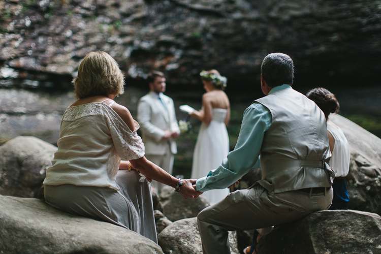 Beautiful elopement at Cloudland Canyon